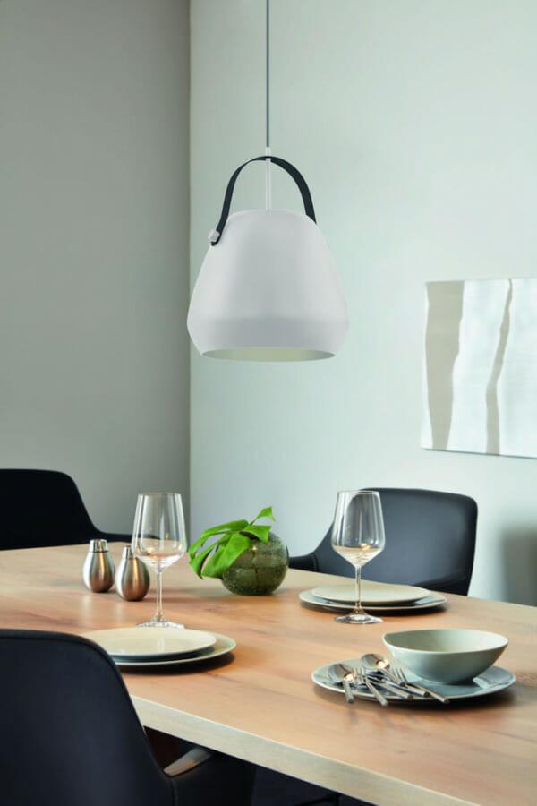 Пендел от стомана с декоративна дръжка Bednall в сив цвят - декор