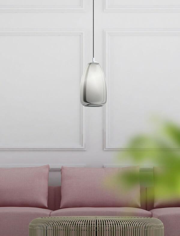 Пендел с тяло от затъмнено стъкло Alobrase - размер 1 - декор