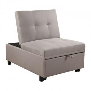 Разтегателно кресло с текстилна дамаска-капучино