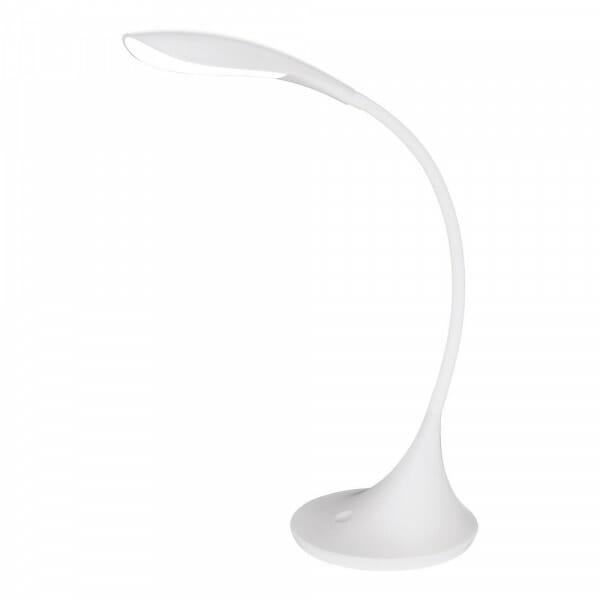 Бяла LED Настолна лампа с тъчдимер Dambera