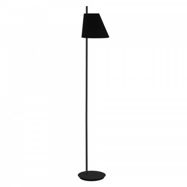 Черен лампион от метал с текстилна шапка Estaziona
