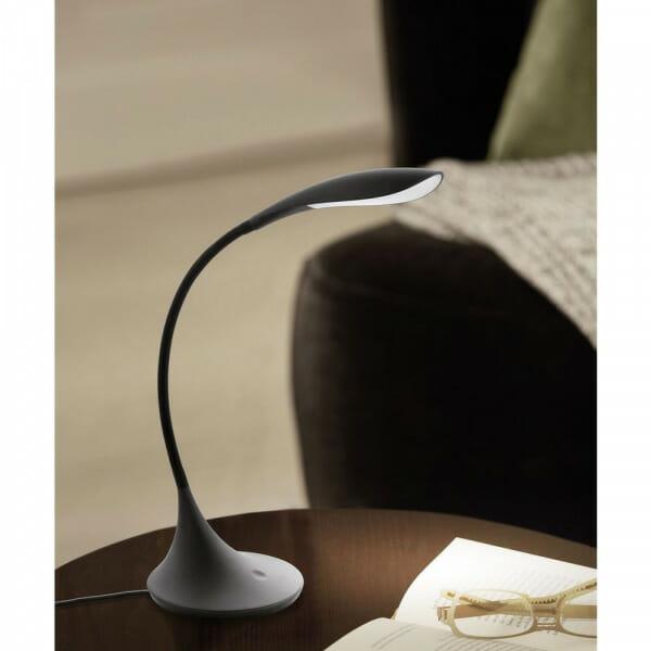 Черна LED Настолна лампа с тъчдимер Dambera - интериор