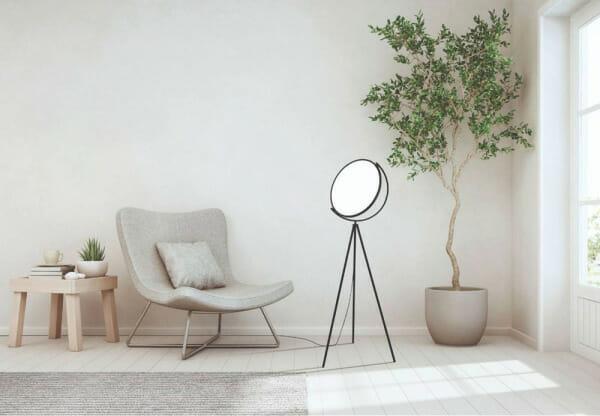 Черно-бял лампион с минималистична визия Renitale - интериор