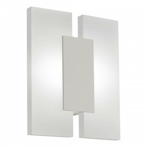 Елегантен LED аплик от 3 части Metrass 2 в бял цвят и никел мат
