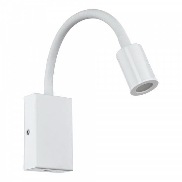 Функционален LED аплик с USB Tazzoli в бял цвят