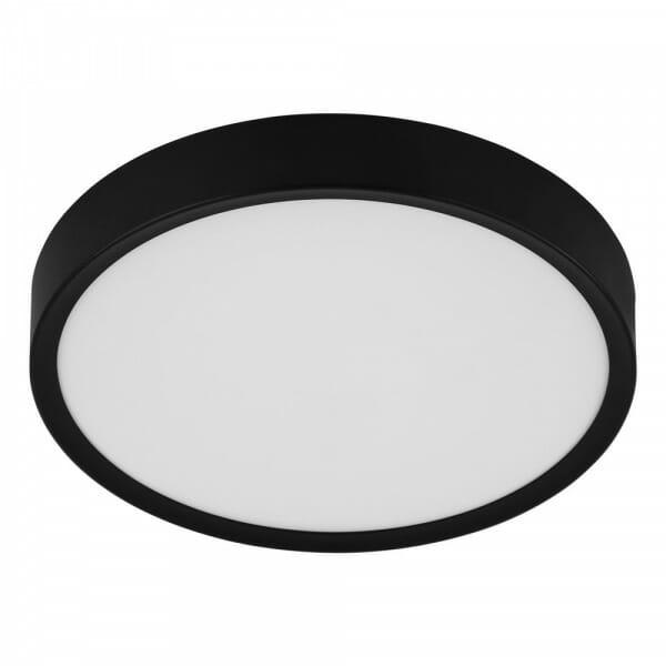 Кръгъл LED плафон в черно и бяло Musurita - размер 1