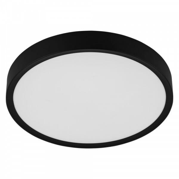Кръгъл LED плафон в черно и бяло Musurita - размер 2