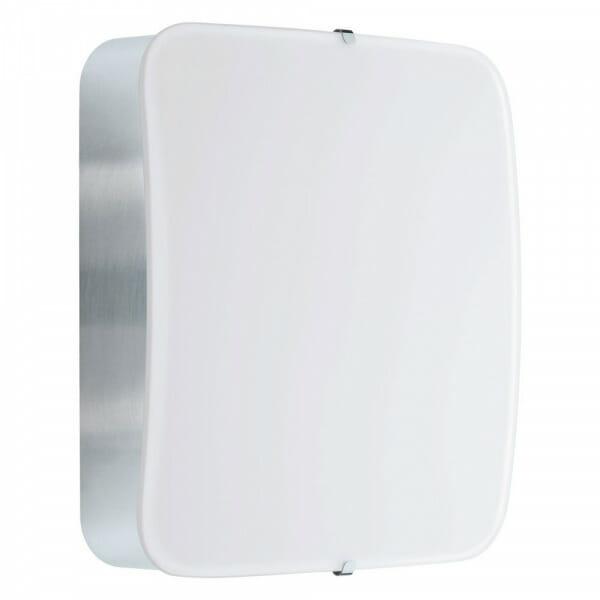Квадратен LED аплик/плафон от стъкло Cupella в цвят хром