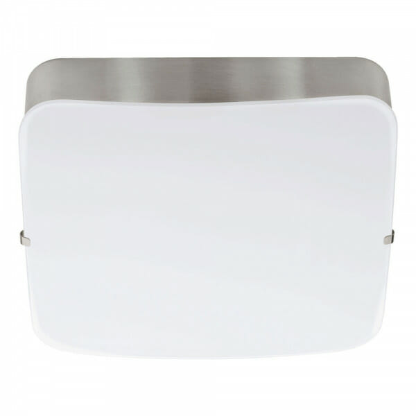 Квадратен LED аплик/плафон от стъкло Cupella в цвят никел мат