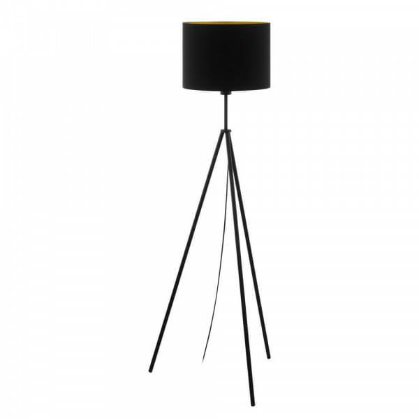 Лампион от метал с текстилна шапка Scigliati в черно и златисто
