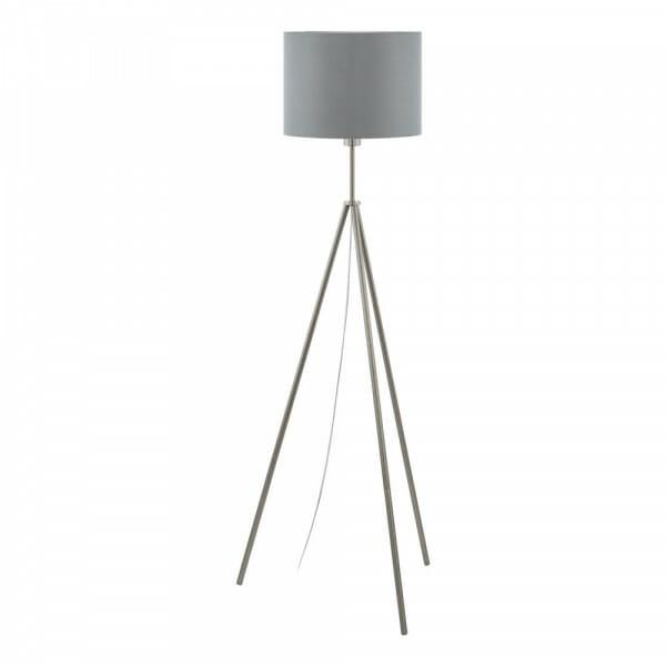 Лампион от метал с текстилна шапка Scigliati в сиво и сребристо