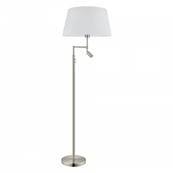 Лампион с бяла текстилна шапка и LED тяло Santander