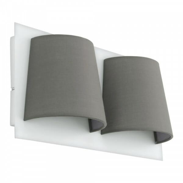 LED аплик oт метал и текстил Serravalle с две тела