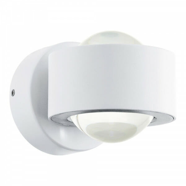 LED аплик с кръгла форма и пръстен Ono 2 в бял цвят