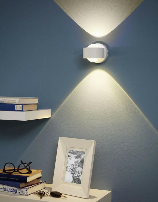 LED аплик с кръгла форма и пръстен Ono 2 в бял цвят - декор