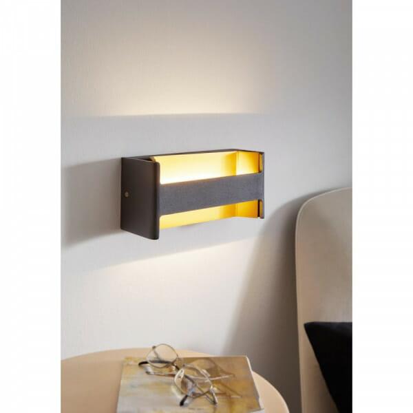 LED аплик с оригинална форма Feloniche в черно и златисто - интериор
