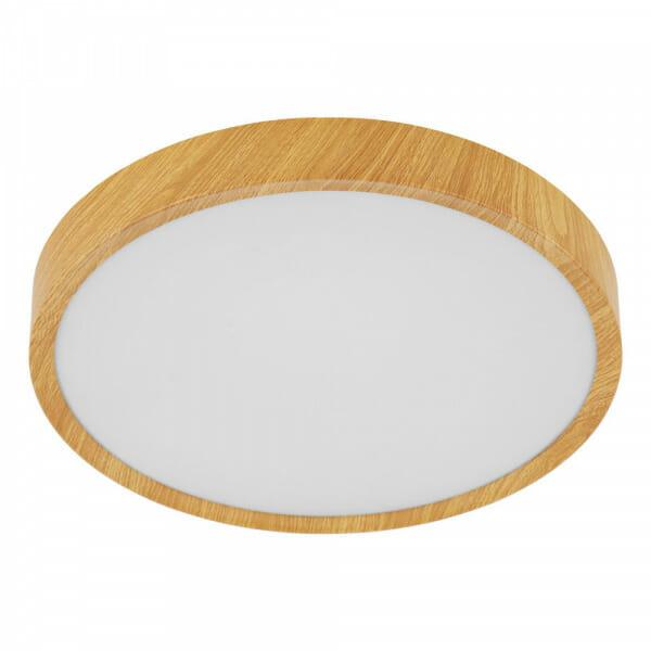 LED плафон в бял и дървесен цвят Musurita - размер 1