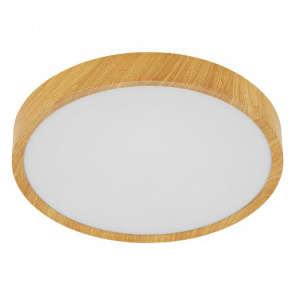 LED плафон в бял и дървесен цвят Musurita - размер 2