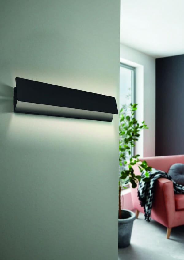 Метален LED аплик с изискана визия Zubialde в черен цвят - интериор