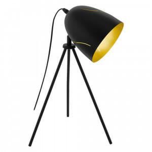 Настолна лампа от метал в черно и златисто Hunninghnam