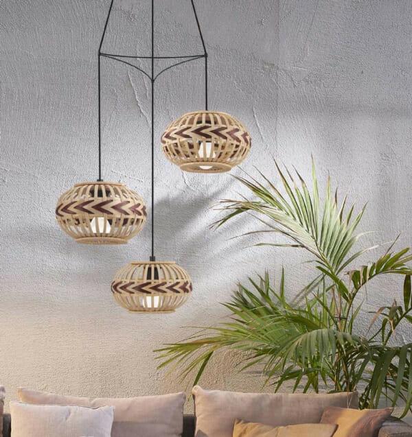 Пендел с 3 декоративни дървени тела Dondarrion - интериор