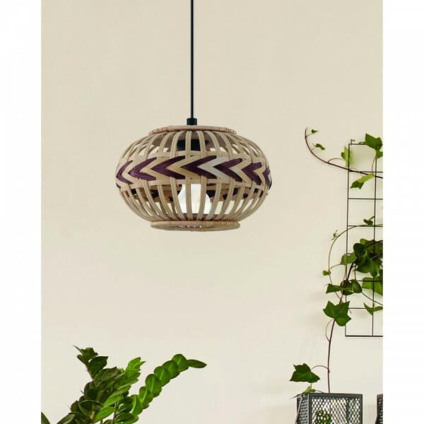 Пендел с декоративен дървен абажур Dondarrion