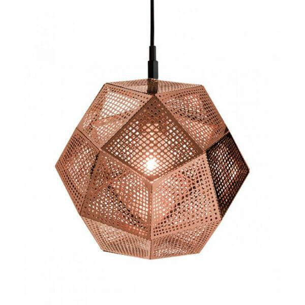 Пендел с метално геометрично тяло Hobart в цвят мед