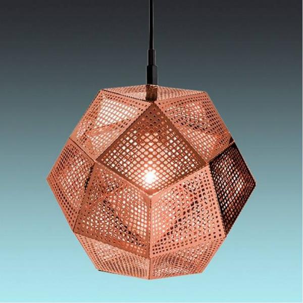 Пендел с метално геометрично тяло Hobart в цвят мед - интериор