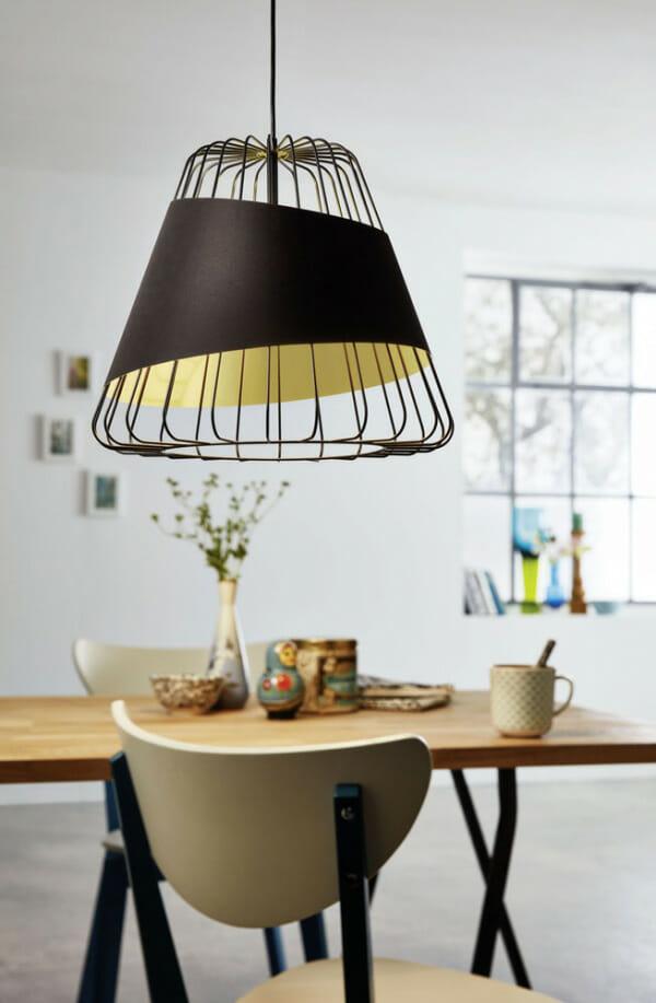 Пендел с текстил в черно и златисто Austell - размер 3 - интериор