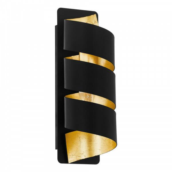 Спираловиден аплик в черно и златисто Elizondo