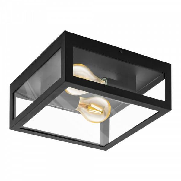 Стъклен плафон/аплик за баня с метална рамка Amezola